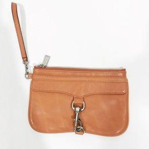 REBECCA MINKOFF Coral Tan Skinny Mac Wristlet Bag